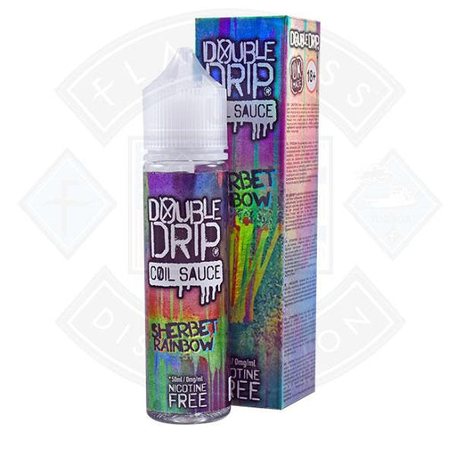 Double Drip Sherbet Rainbow 0mg 50ml Shortfill E liquid