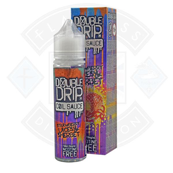 Double Drip Strawberry Laces & Sherbert 0mg 50ml Shortfill