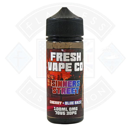 Fresh Vape Co. Sinners Street Cherry & Blue Razz 0mg 100ml Shortfill