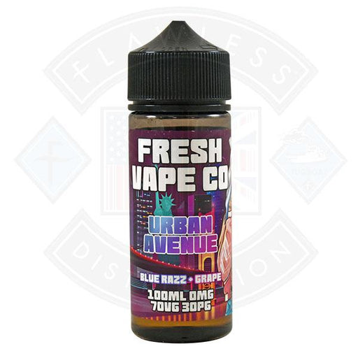 Fresh Vape Co. Urban Avenue Blue Razz & Grape 0mg 100ml Shortfill