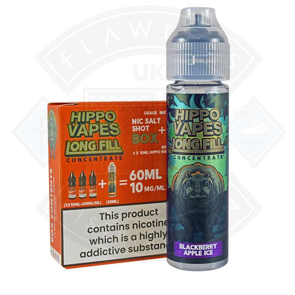 Hippo Vapes Longfill Concentrate Blackberry Apple Ice 30ml