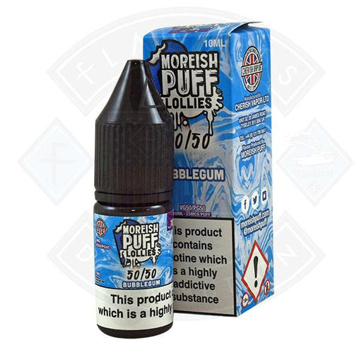 Moreish Puff Lollies 50/50 Bubblegum 10ml
