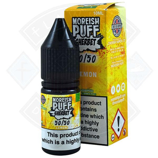 Moreish Puff Sherbet 50/50 Lemon 10ml