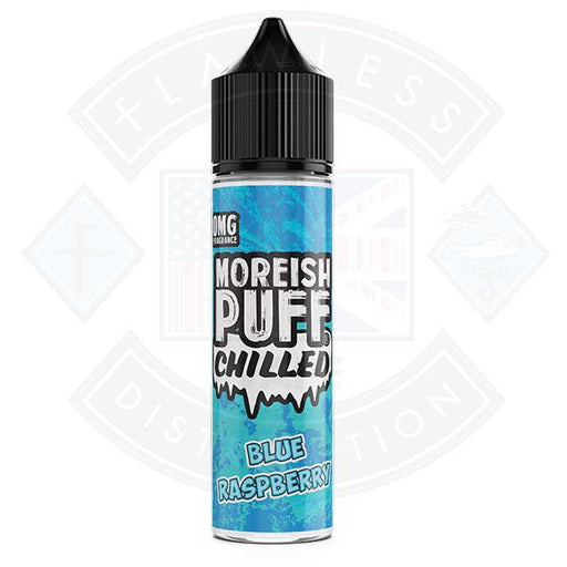 Moreish Puff Chilled Blue Raspberry 0mg 50ml Shortfill E-liquid