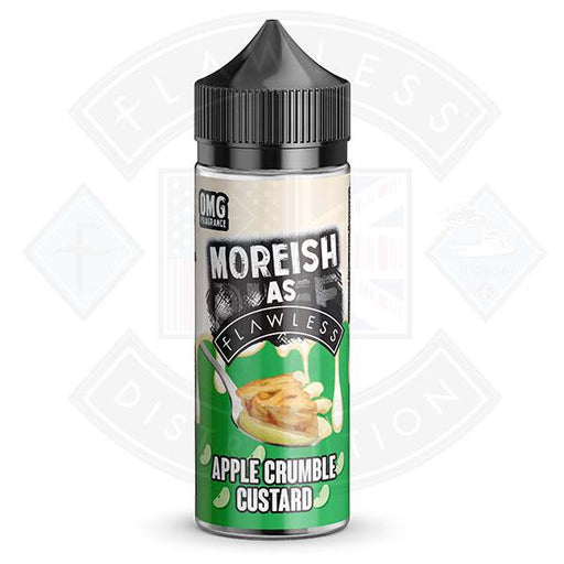Moreish As Flawless Custards Apple Crumble 100ml 0mg shortfill e-liquid