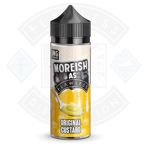 Moreish As Flawless Custards Original 100ml 0mg shortfill e-liquid