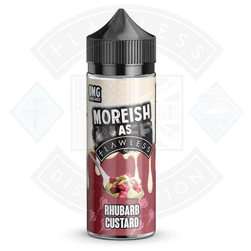 Moreish As Flawless Custards Rhubarb & Custard 100ml 0mg shortfill e-liquid