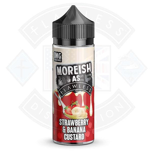 Moreish As Flawless Custards Strawberry & Banana 100ml 0mg shortfill e-liquid
