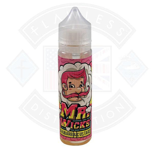 Mr Wicks Rhubarb & Custard E Liquid By Momo 50ml Short fill