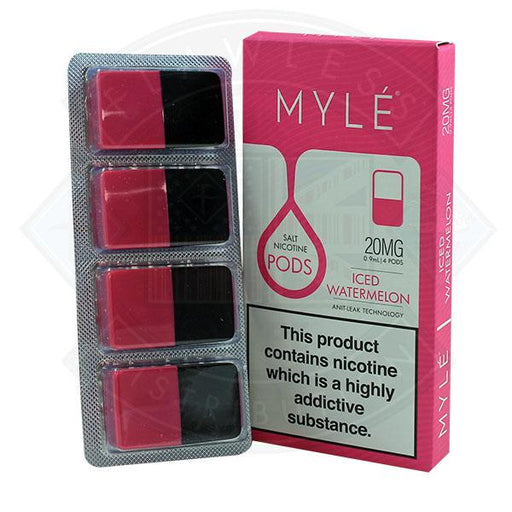 Myle Pod - Iced Watermelon 0.9ml 20mg 4pack