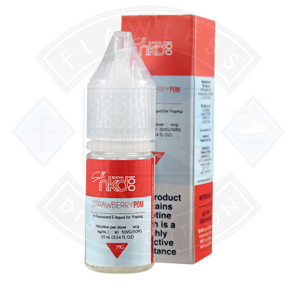 Naked Nic Salt Strawberry Pom 10ml E-liquid