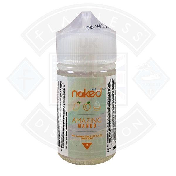 Naked - Amazing Mango Ice 0mg 50ml Shortfill
