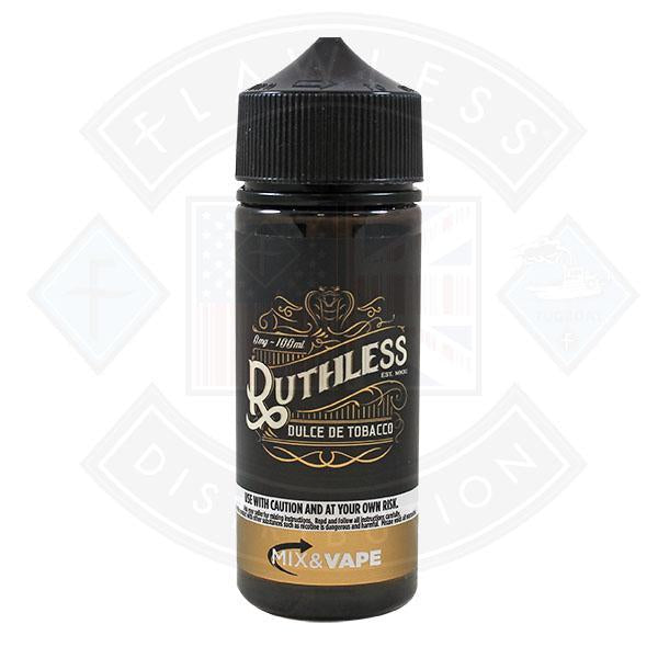 Ruthless Tobacco - Dolce De Tobacco 0mg 100ml Shortfill