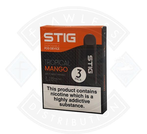 Stig Disposable Pod Device - Tropical Mango (Juicy Sweet Mango)  1.2ml 3 pack