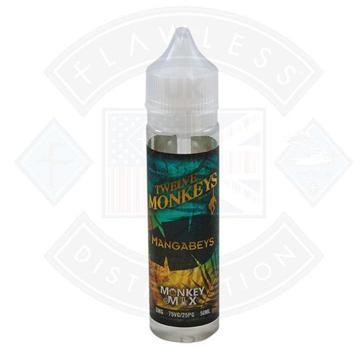 TWELVE MONKEYS - MANGABEYS 0MG 50ML SHORTFILL E-LIQUID