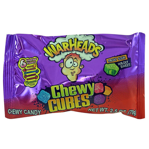 Warheads Chewy Cubes 2.5oz (70g) (15 pack)