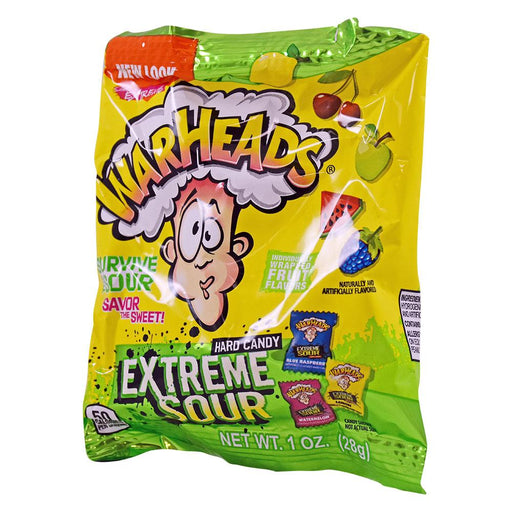 Warheads Extreme Sour Hard Candy 2oz (56g) Peg Bags (12 pack)