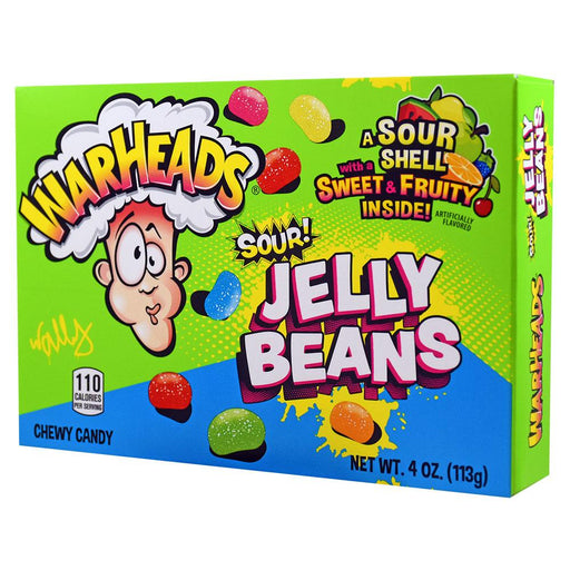 Warheads Sour Jelly Beans Theatre Box (12 pack)