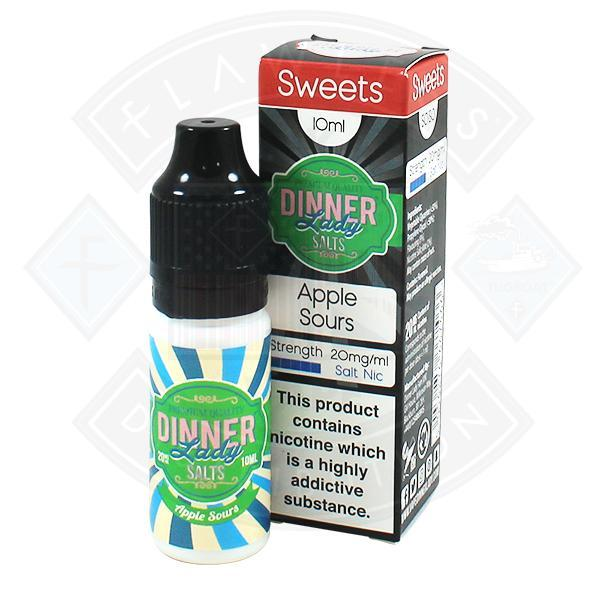 Dinner Lady Sweets- Apple Sours Salt Nic 10ml 20mg E-liquid