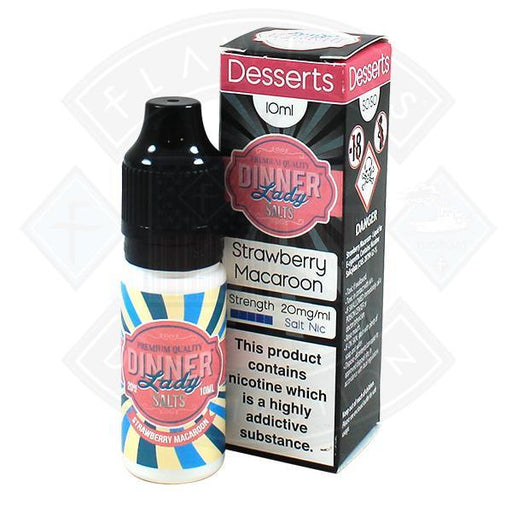 Dinner Lady Desserts - Strawberry Macaroon Salt Nic 10ml 20mg E-liquid