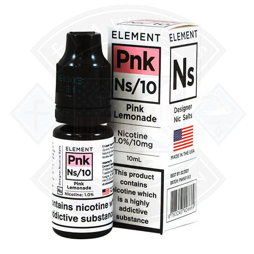 Pink Lemonade Nic Salt by Element Eliquid 10ml