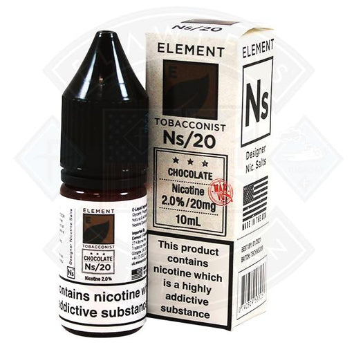 Chocolate Tobacco Nic Salt by Element Eliquid 10ml