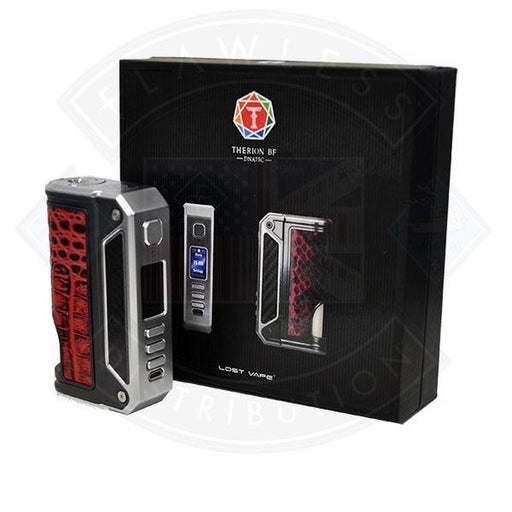 Lost Vape Therion BF DNA 75C Squonk Mod Silvery / Carbon Fibre / Crown bull