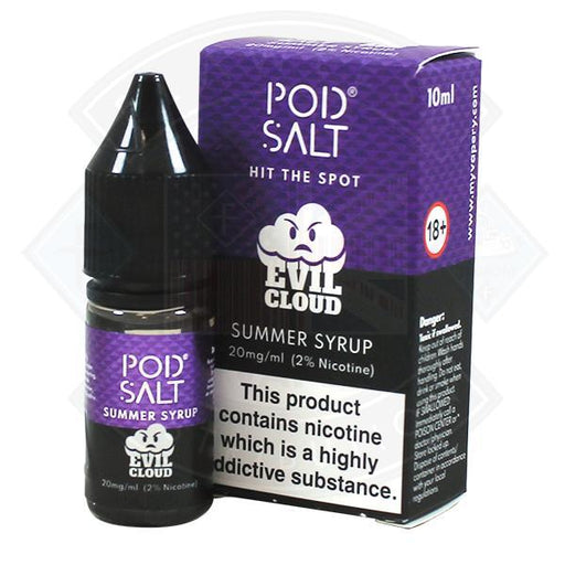 My Vapery Pod Evil Cloud Summer Syrup Nic Salt 20mg 10ml E-Liquid