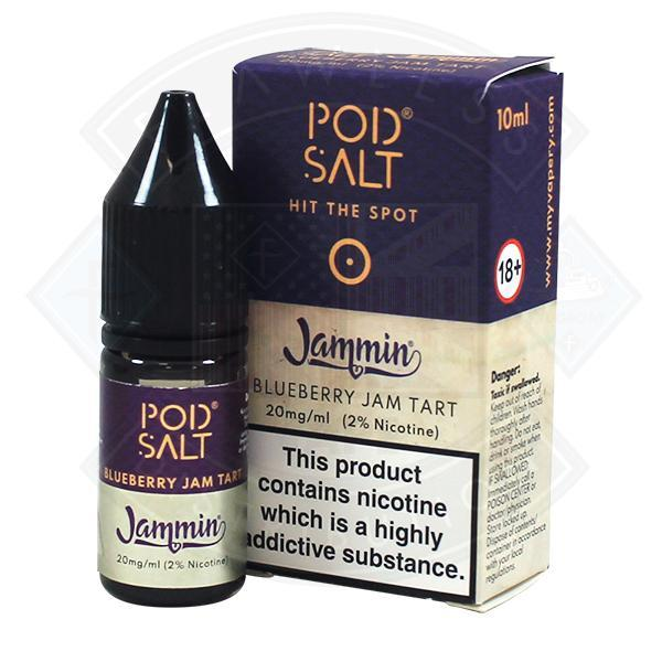 My Vapery Pod Jammin Blueberry Jam Tart Nic Salt 20mg 10ml E-Liquid