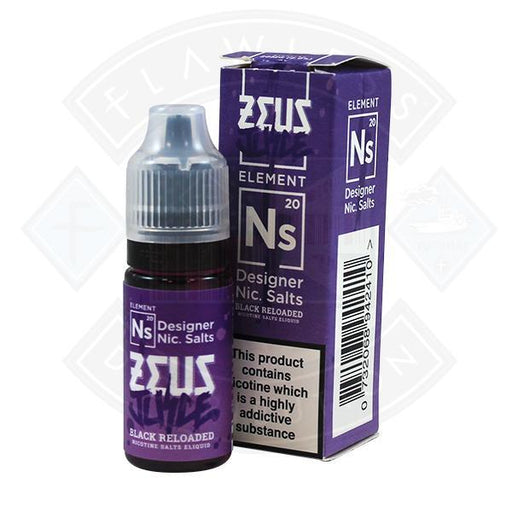 Zeus Juice - Nic Salt Black Reloaded 10ml 20mg E Liquid
