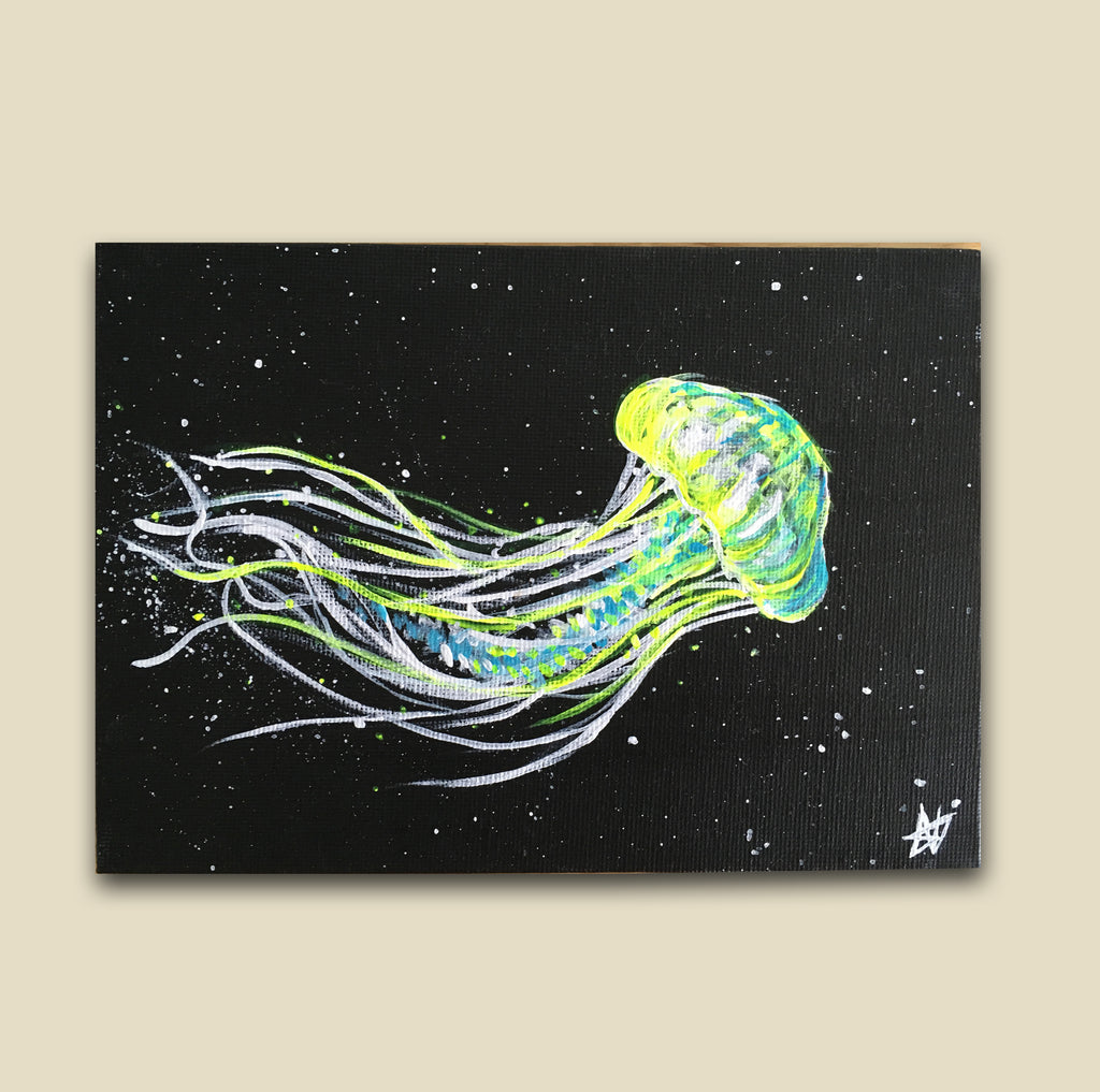Neon Jelly Painting