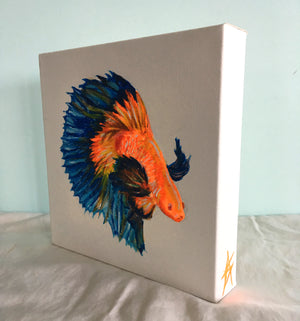 Orange-Blue Fish Painting