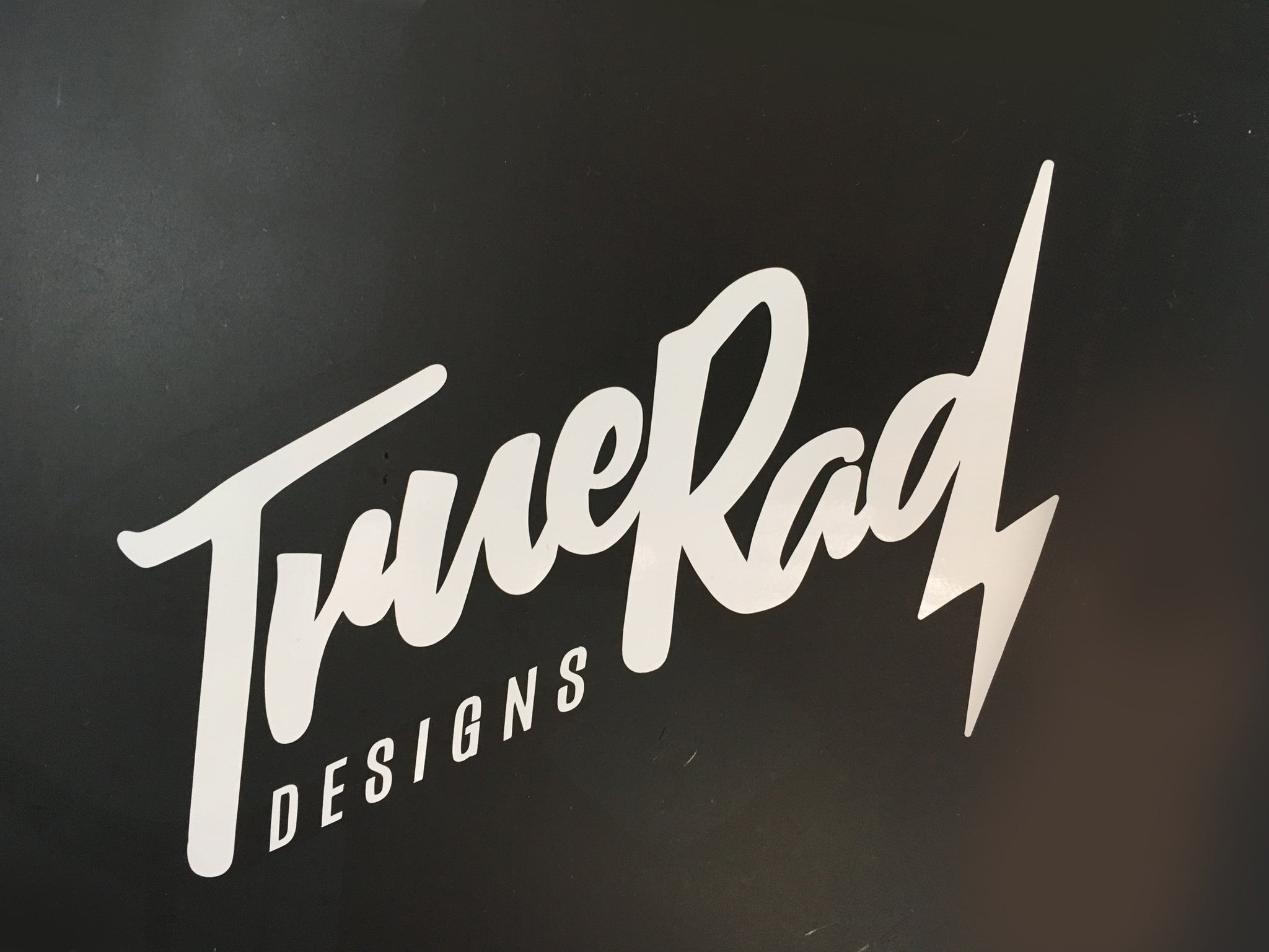 TrueRad White Decal Stickers