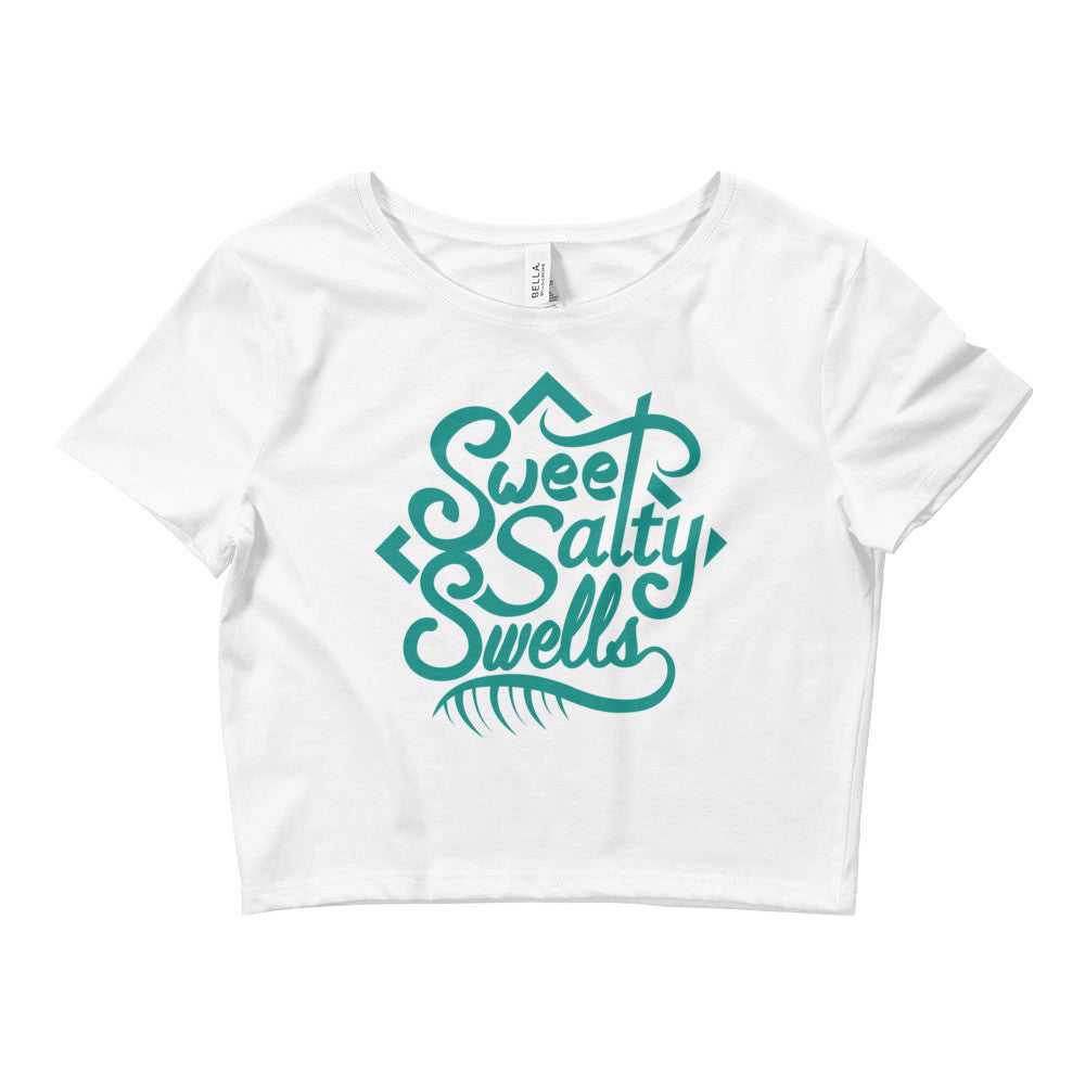 Sweet Salty Swells - Crop Top