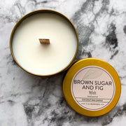 Brown Sugar and Fig Coconut Wax Candle