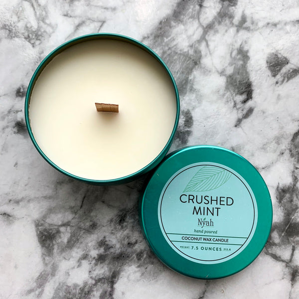 Crushed Mint Coconut Wax Candle