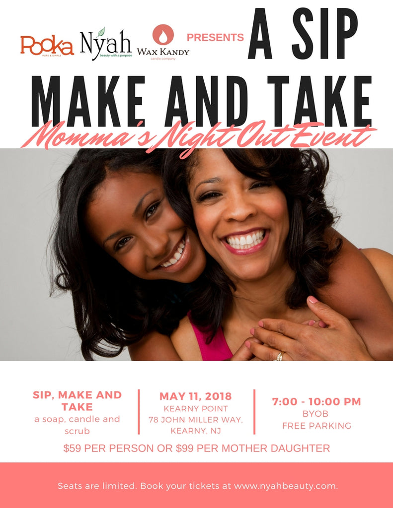 Sip Make and Take Momma's Night Out Event