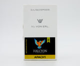 Von Erl eliquid pod packs of Apachi by Halcyon Vapors ejuice