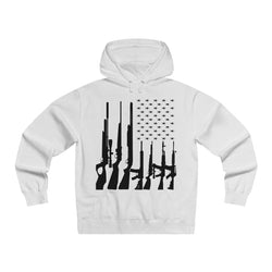 Land Of The Free Pullover Hooded Sweatshirt (Front)