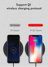 Wireless Charger For iPhone X - Samsung Galaxy Note 8  - S8 S7 S6 Edge