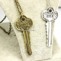 Vintage The Key To 221B Necklace - Sherlock Holmes