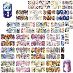 Special Set #6 - 48 Sheets Per Set | Cute Animals Theme Nail Art Decals