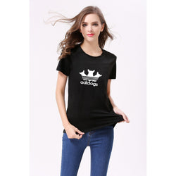Adidogs Cotton T-Shirt For Women