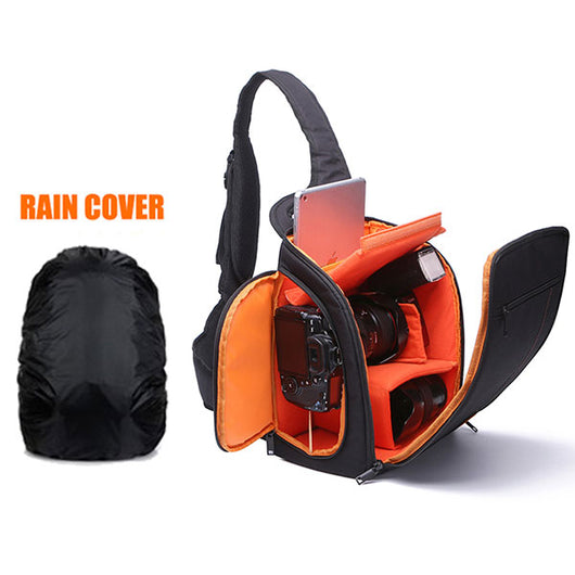Camera Bag + Strap + Rain Cover Combo Set