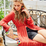 Boho Patchwork Summer Dress