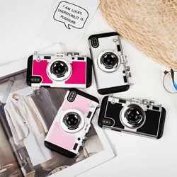 Retro Camera Inspired Case v2 For iPhone X To iPhone 5  - Comes with Free Lanyard!