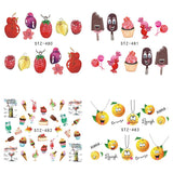 Summer Desserts | 15 Colors To Choose From | Nail Art Decals