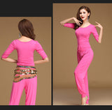 Modern Style V2 - Open Belly Top, Belt, And Pants Dance Set