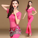 3 Pieces Belly Dancing Practice Wear Set