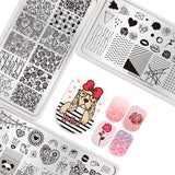 Stamping Template #1 - Valentine's Day Theme | 5 Patterns To Choose From!